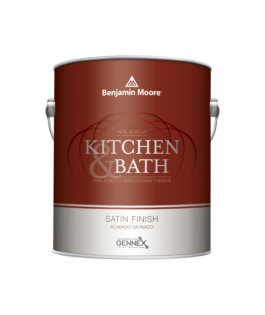 Benjamin Moore Kitchen & Bath interior satin paint, available at Wallauer's in NY.