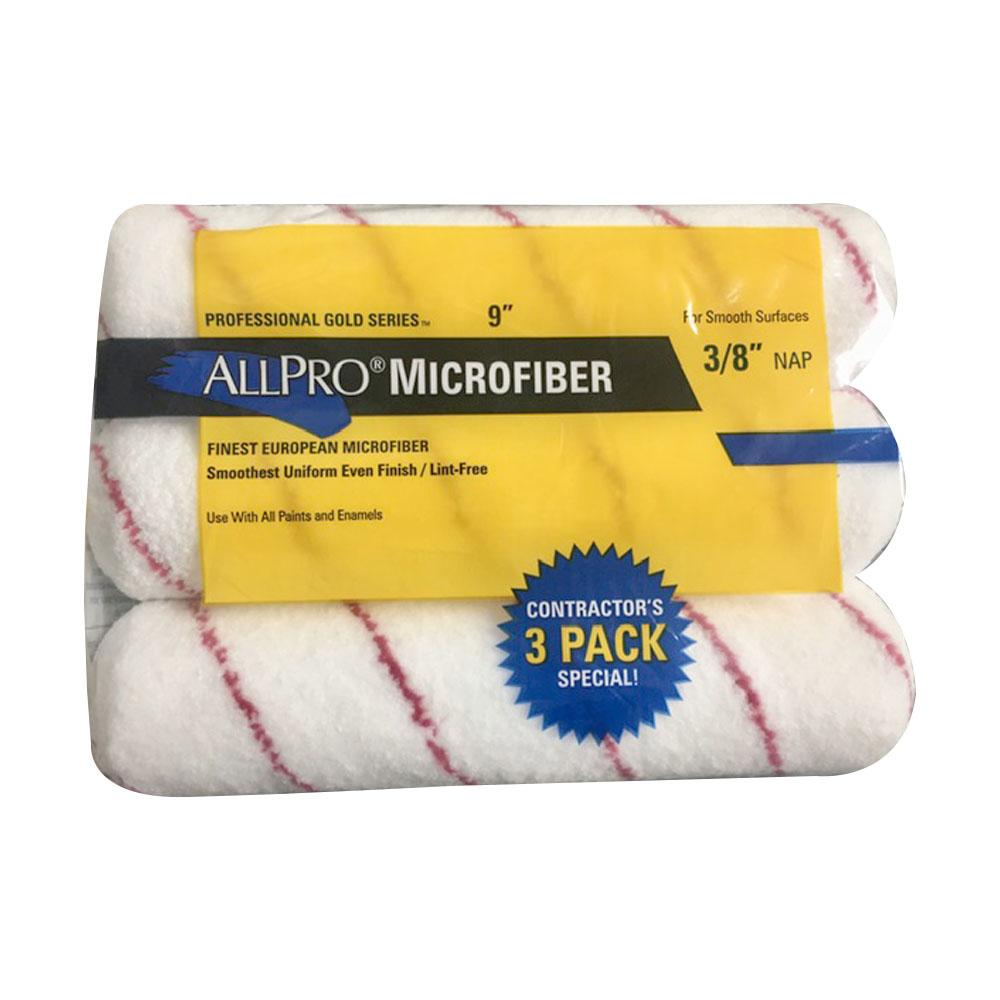 "Allpro Microfiber 9""X3/8"" 3 Pack, available at Wallauer Paint Centers in Westchester, Putnam, and Rockland Counties in New York."