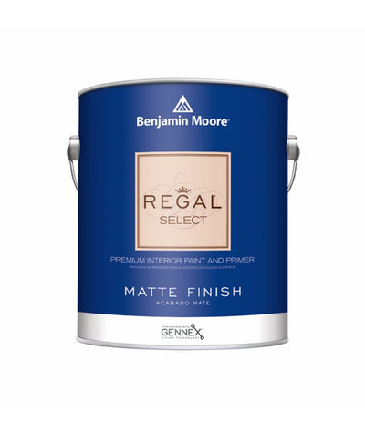 Benjamin Moore Regal Select Matte Paint available at Wallauer Paint & Design.