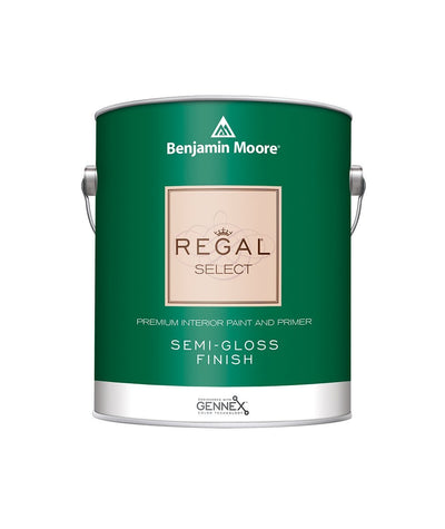 Benjamin Moore Regal Select Semi-Gloss Paint available at Wallauer Paint & Design.