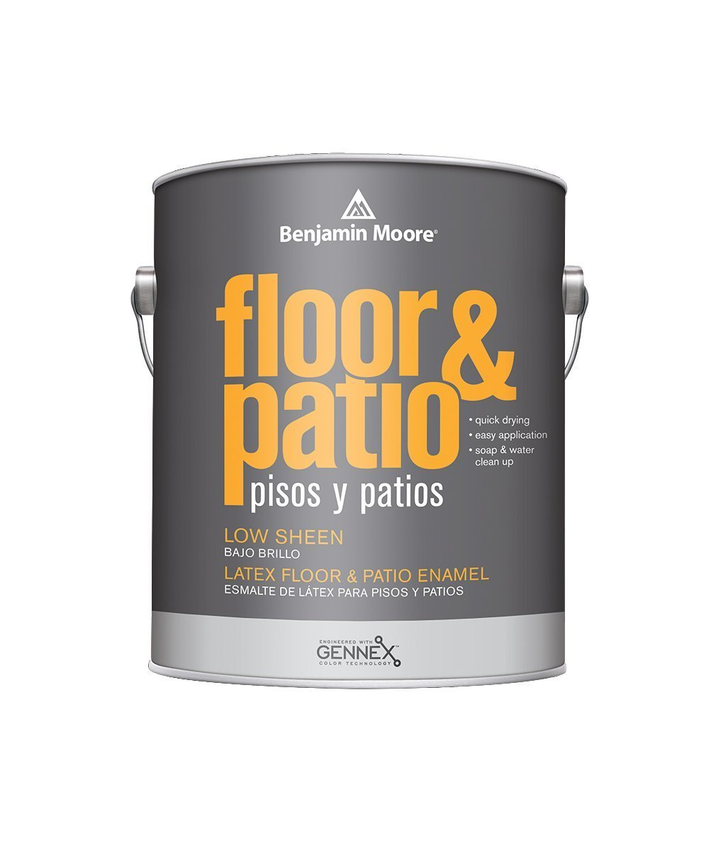 Benjamin Moore floor and patio low sheen Interior Paint available at Wallauer Paint & Design.