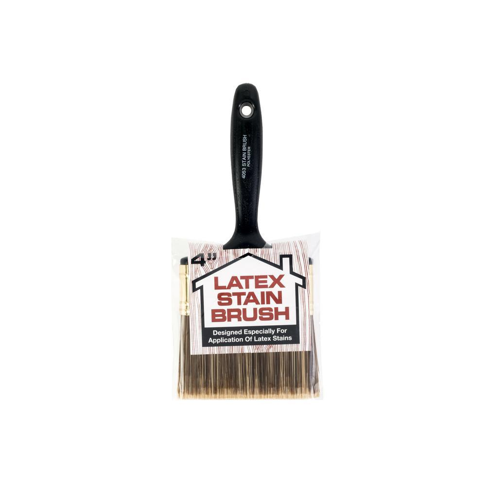 "4"" Latex Stain Brush, available at Wallauer Paint Centers in Westchester, Putnam, and Rockland Counties in New York."