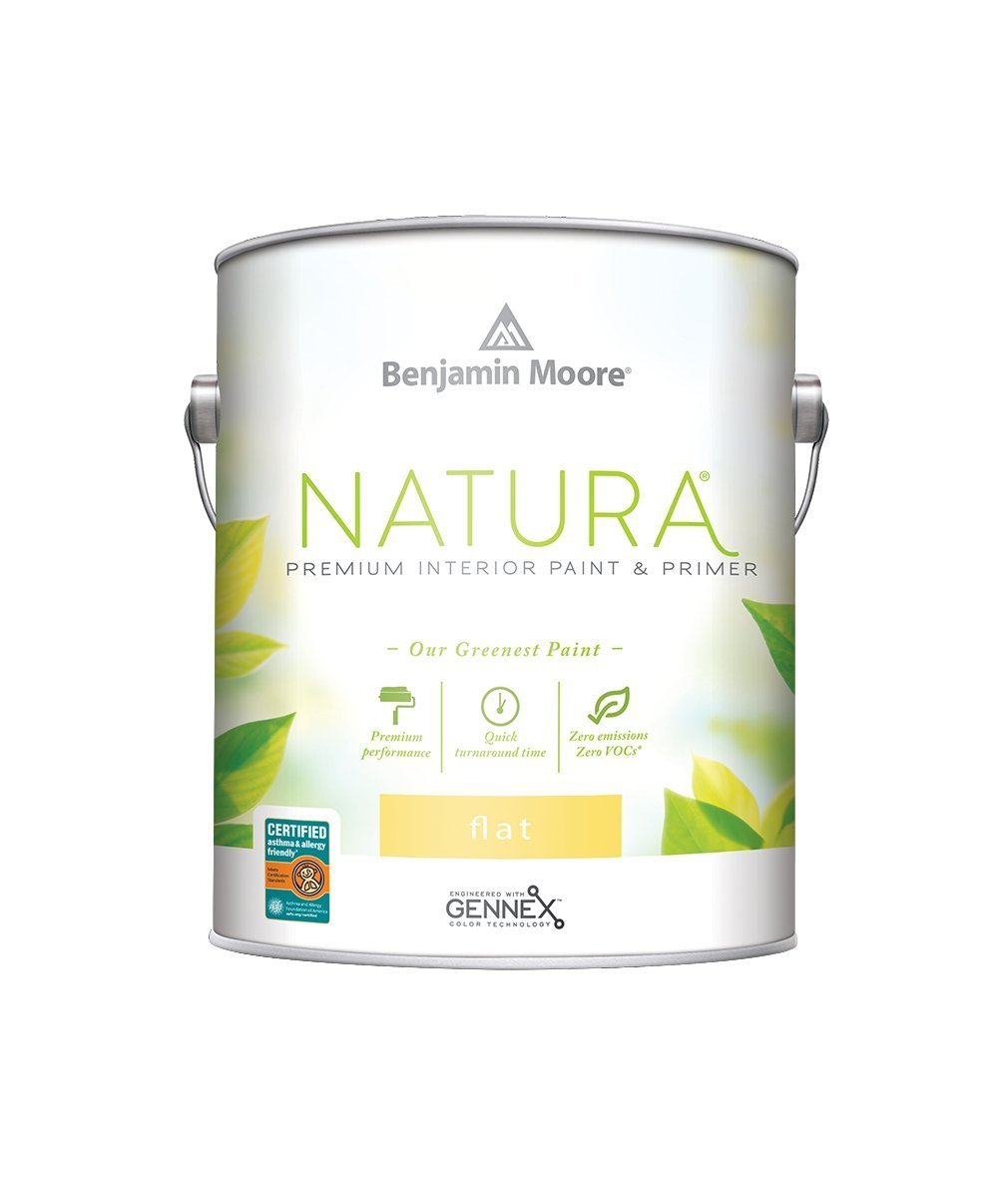 Benjamin Moore Flat Natura Paint available at Wallauer Paint & Design.