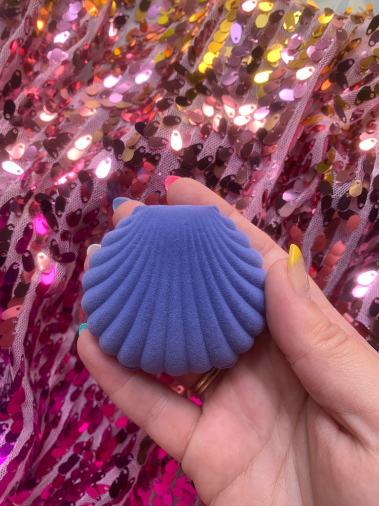 Purple Shell Velvety Container
