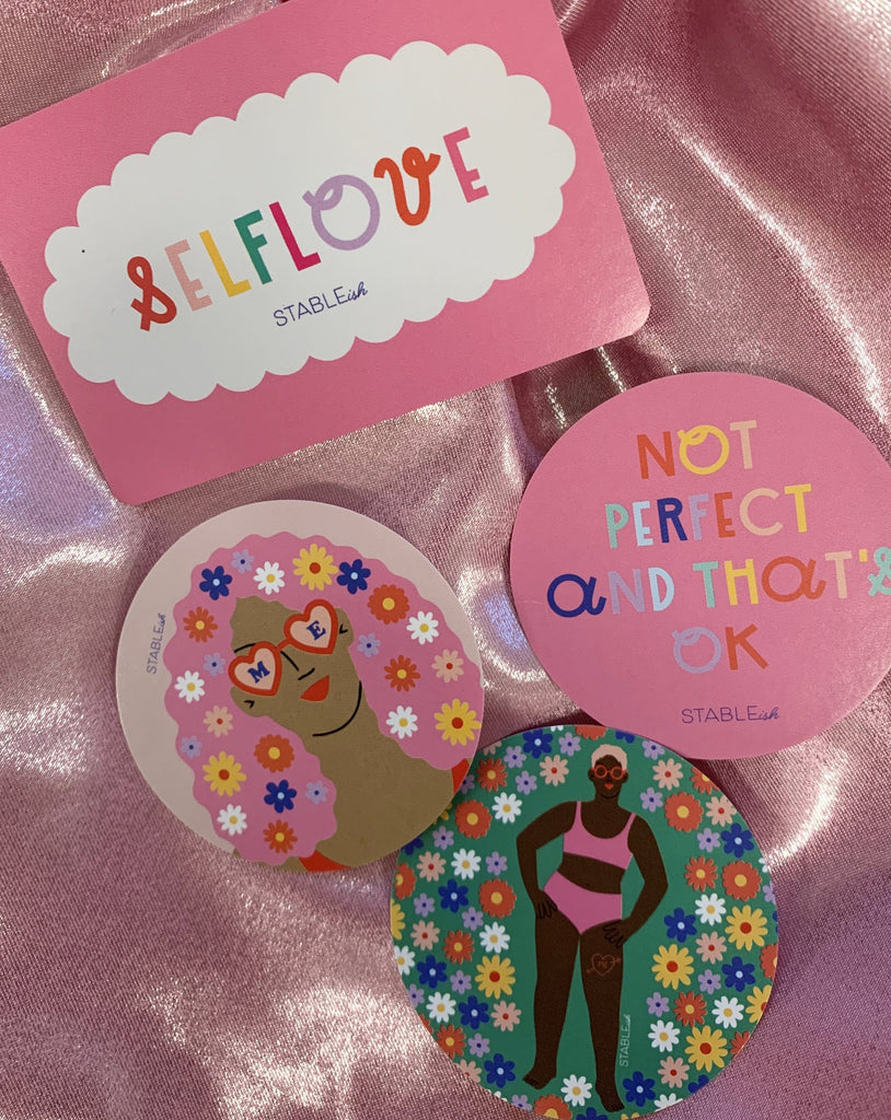 Self Love Set of 4 Sticker Pack!
