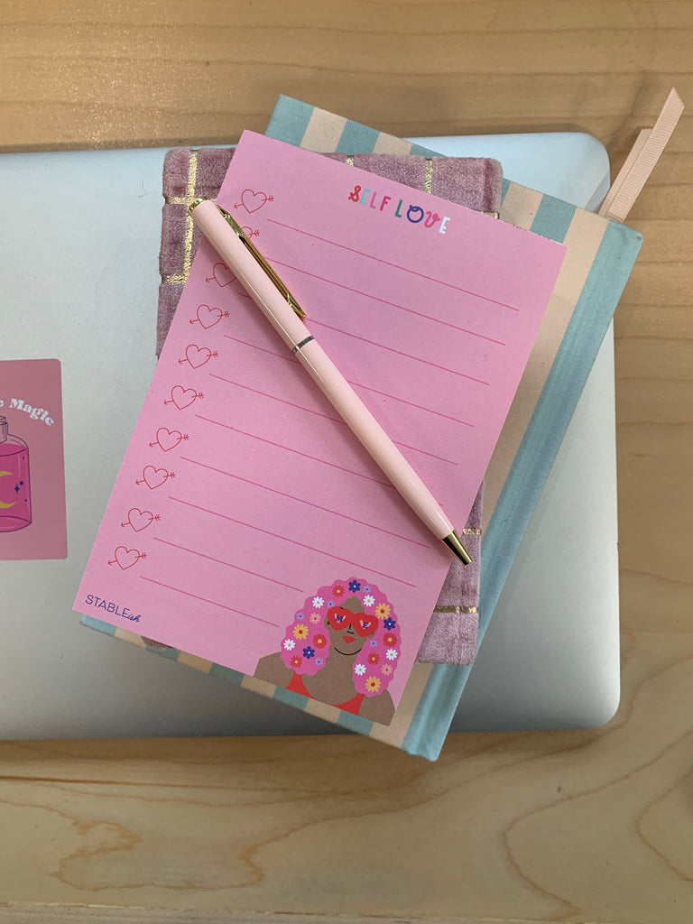 Self Care To Do Pink Notepad