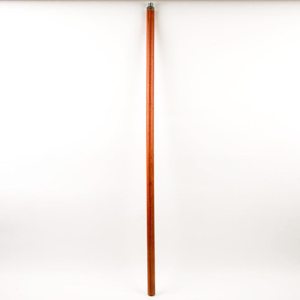 Wooden Extension Pole With Metal Threaded Tip