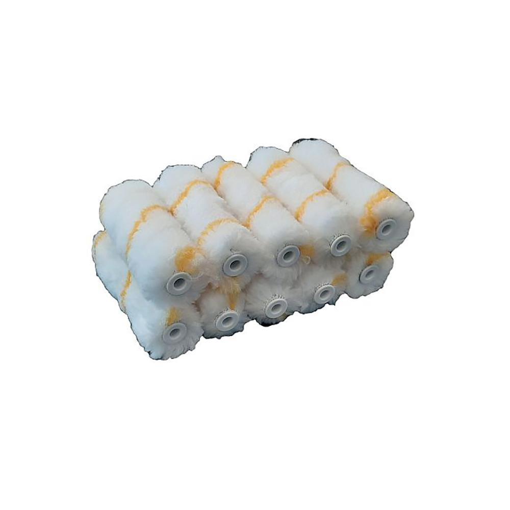 "4"" Yellow Stripe Mini Rollers (10 Pack)"