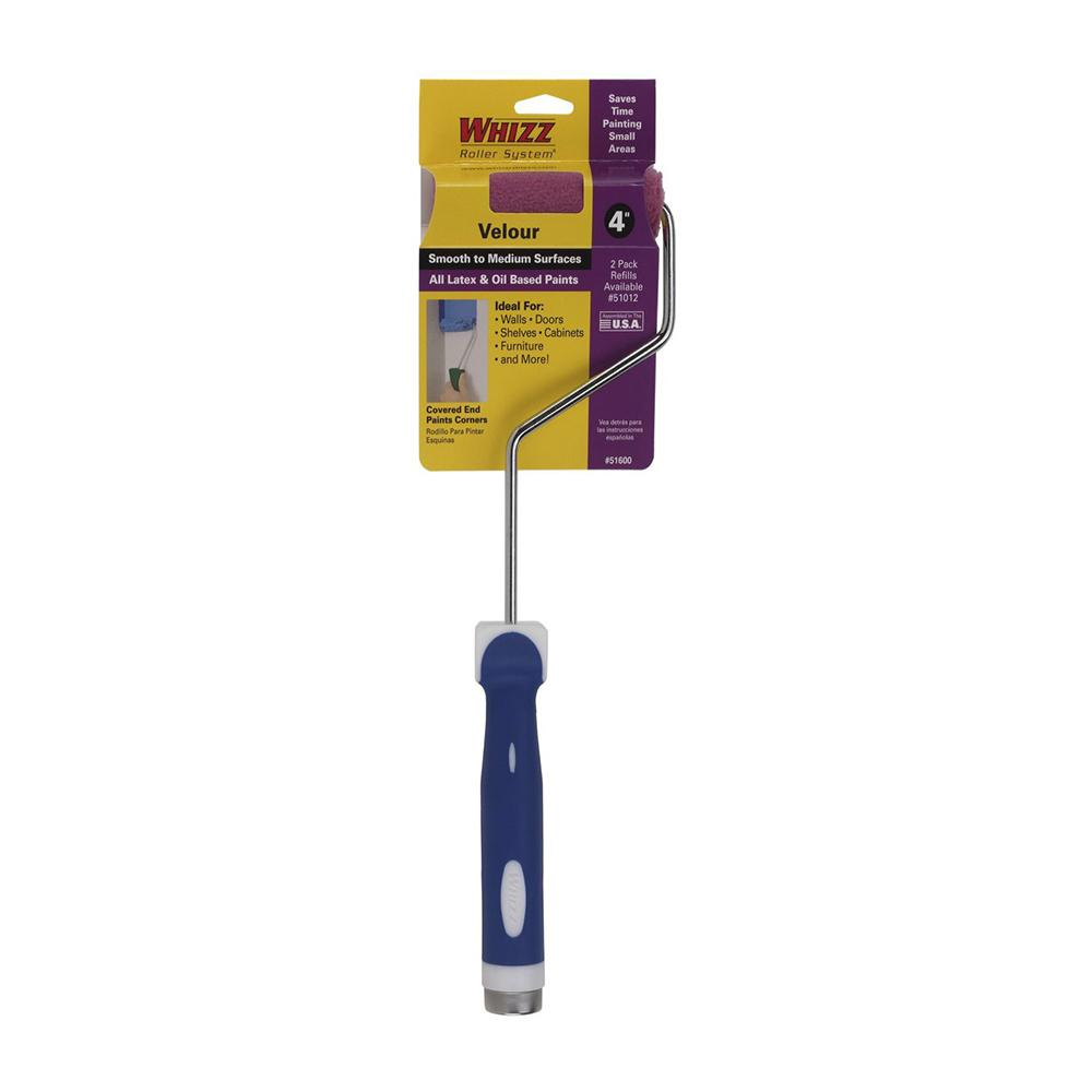 "Whizz Velour 4"" Paint Roller with Handle, available at Southwestern Paint in Houston, TX."