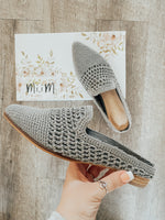 Natural Woven Mule Grey