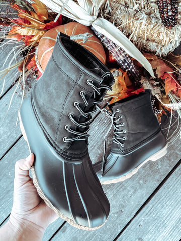 Brushed Leather Duck Boots | FINAL SALE