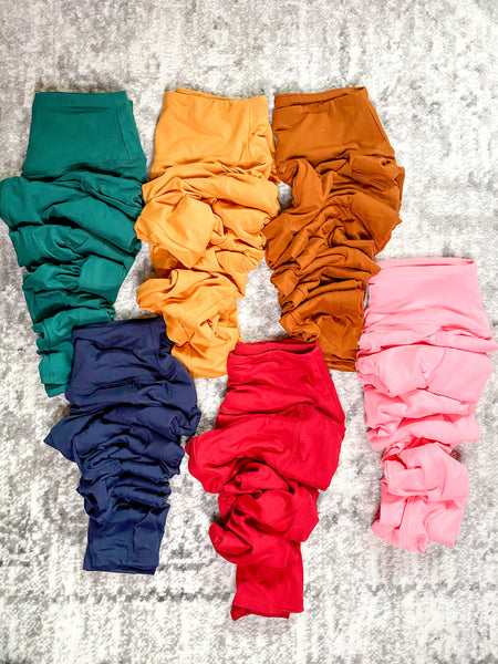 High Waist Leggings w/ Pockets — 6 Colors Available