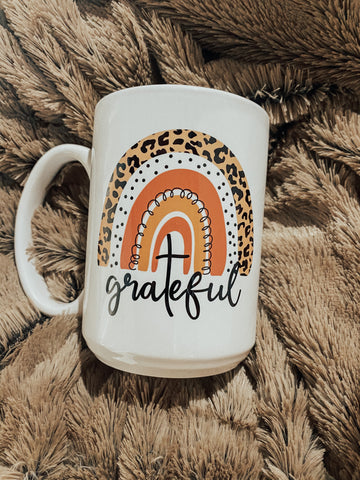 GRATEFUL LEOPARD RAINBOW 15oz Mug