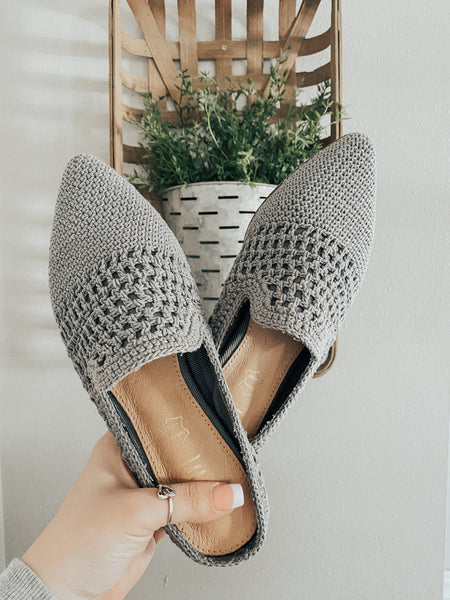 Natural Woven Mule Grey | FINAL SALE