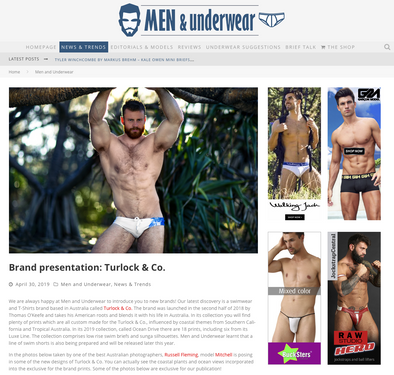Men and Underwear brand representation