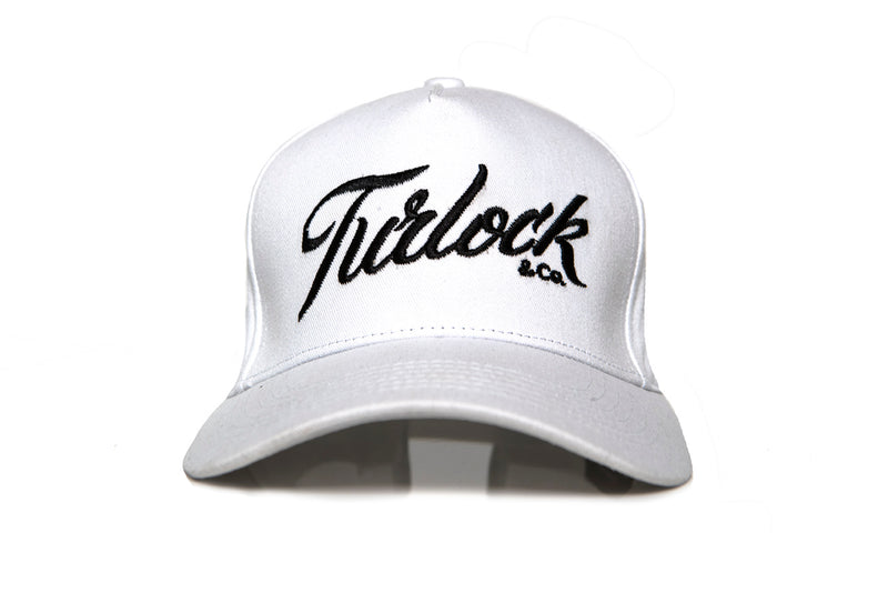 White A-Frame Baseball Cap - Turlock & Co.