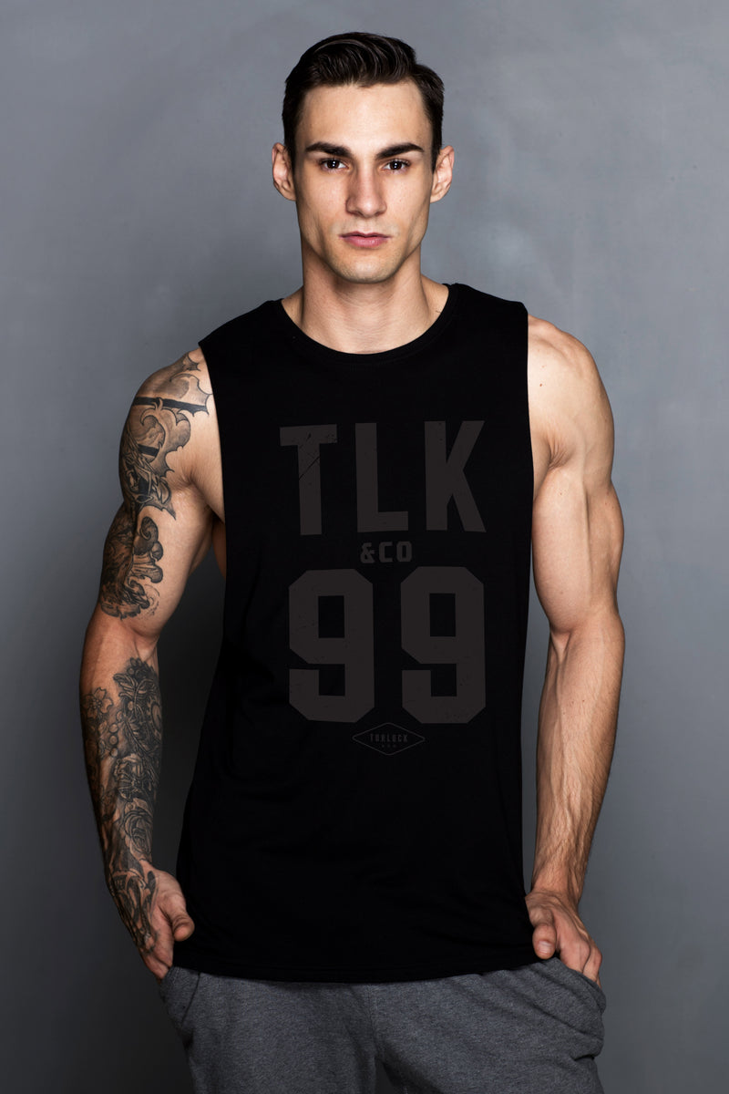 Black TLK&Co. Logo Muscle Shirt