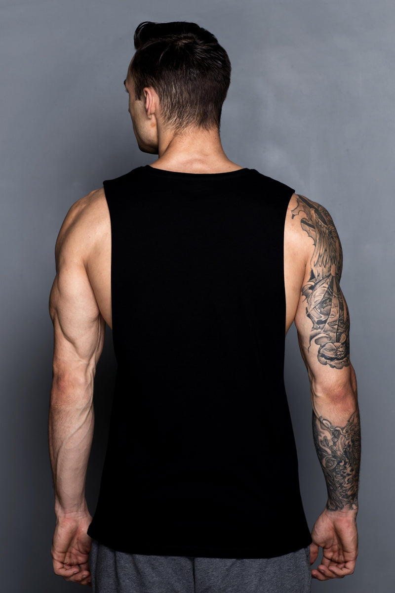 Black Block Logo Muscle Shirt - Turlock & Co.