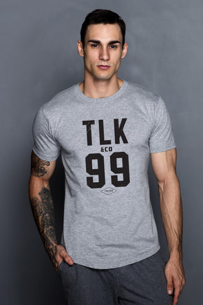 Grey TLK99 Logo T-Shirt - Turlock & Co.