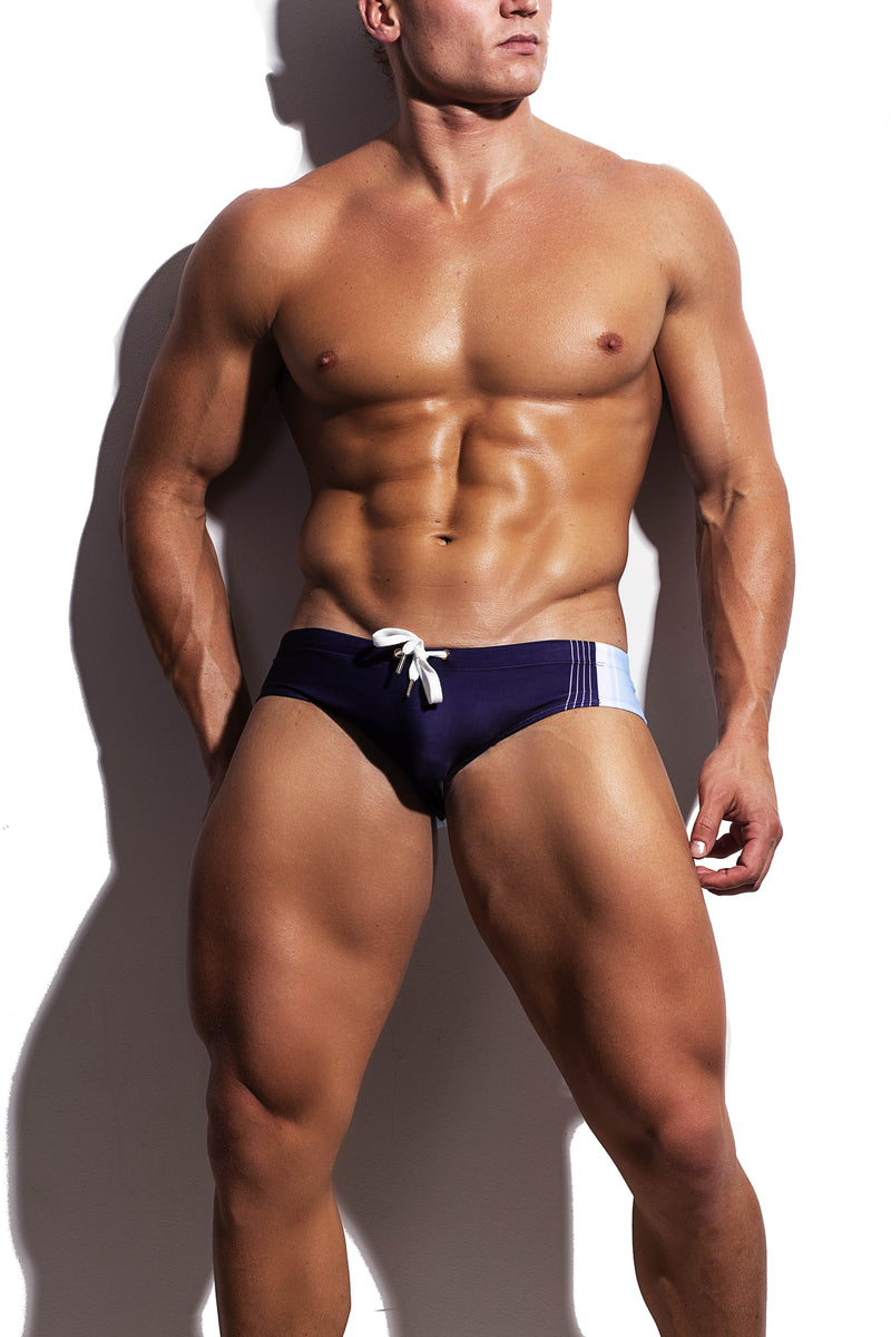 Navy Collegiate Streamline Swim Brief