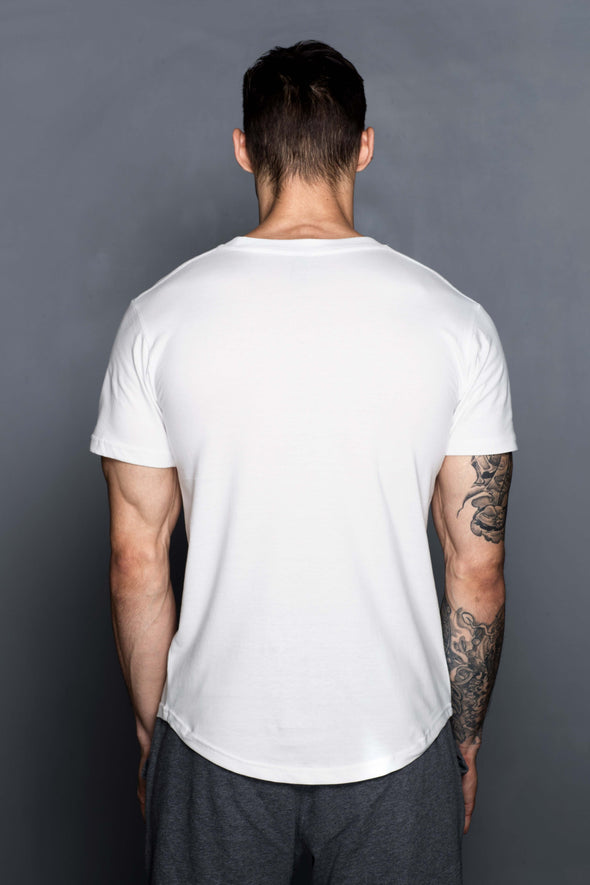 White Wire Logo T-Shirt - Turlock & Co.