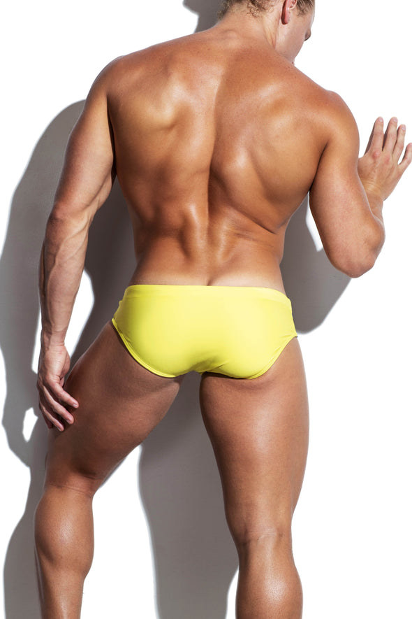 Yellow Sunset Luxe Streamline Swim Brief - Turlock & Co.