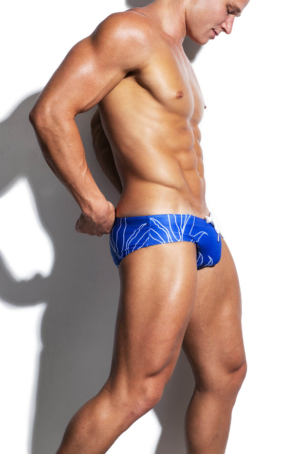 Navy Fresh Luxe Streamline Swim Brief - Turlock & Co.