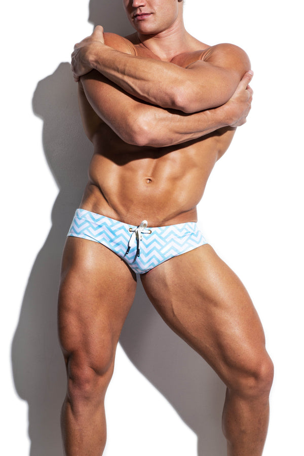 Digital Waves Luxe Streamline Swim Brief - Turlock & Co.