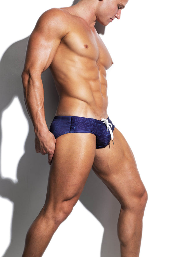 Wire Forests Faded Purple Streamline Swim Brief