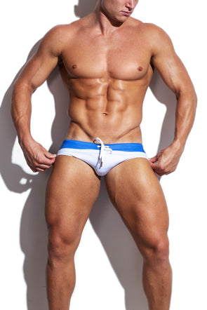 Blue Standard Streamline Swim Brief - Turlock & Co.