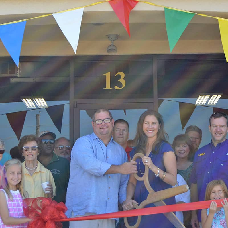 Harrison Paint Co ribbon cutting ceremony for new store in South Shrevport, LA.