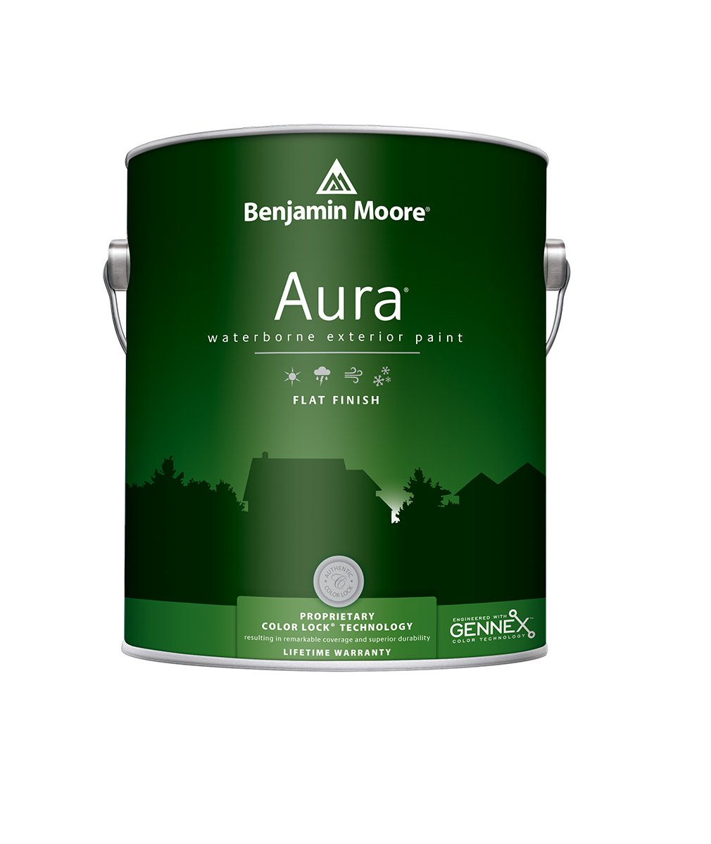 Benjamin Moore Aura® Exterior Paint in a Flat finish at Harrison Paint Co. in Shreveport, Bossier City and West Monroe, LA.