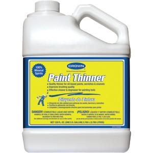 Paint thinner, available at Harrison Paint Co.