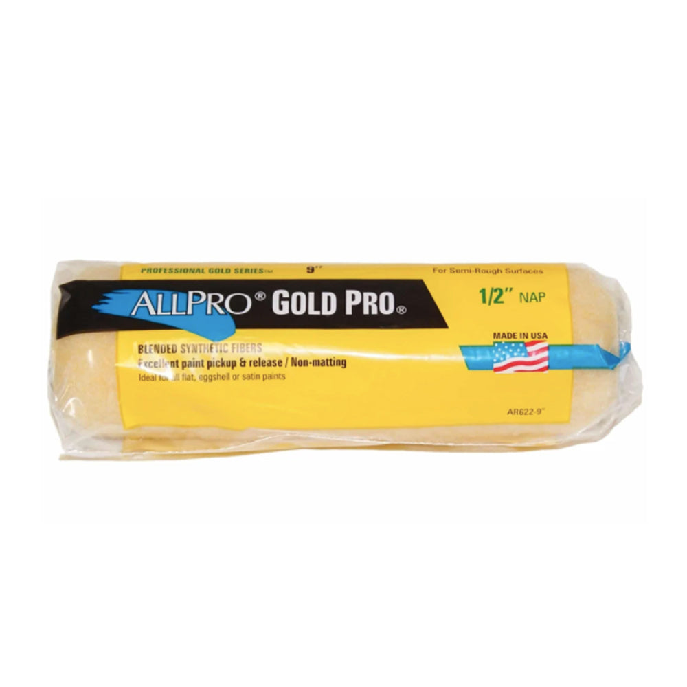 "9"" Gold Pro Paint Roller Cover, available at Harrison Paint Co in Louisiana."