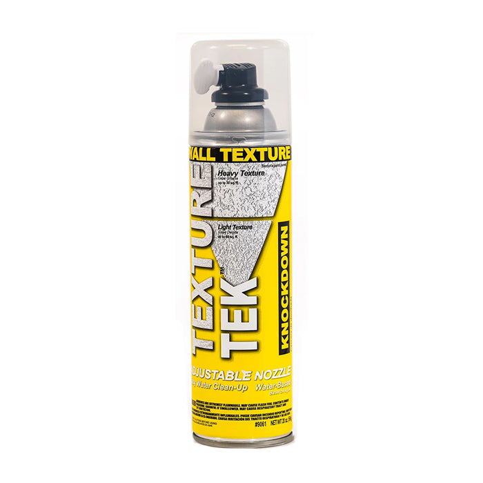 Texture Tek Knockdown Wall Texture Spray, available at Harrison Paint Co in Louisiana.