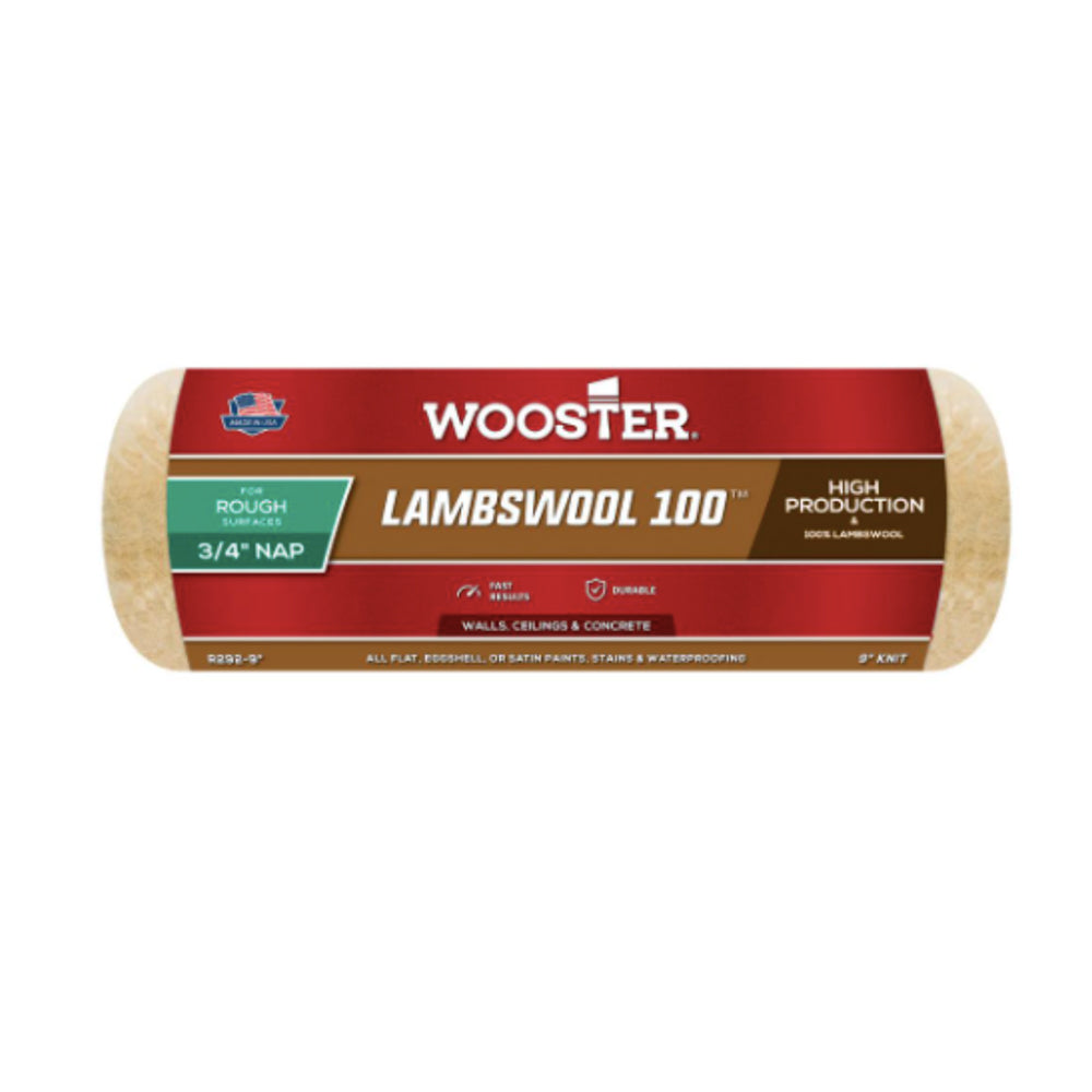 "9"" Lambswool 100 Paint Roller Cover, available at Harrison Paint in Louisiana."