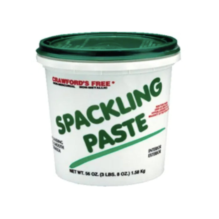 Crawfords Vinyl Spackling Paste, available at Harrison Paint Co in Louisiana.