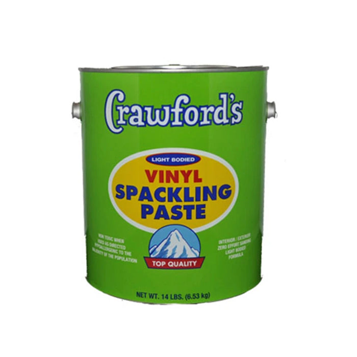 Crawford's Vinyl Spackling Paste, available at Harrison Paint Co in Louisiana.