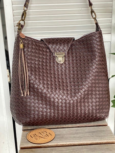 Dark brown Handmade Hobo Bag
