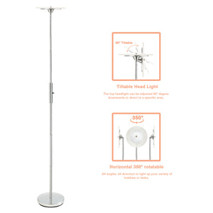 SUNLLIPE LED Torchiere Floor Lamp Super Bright 18W 70.5 Inches