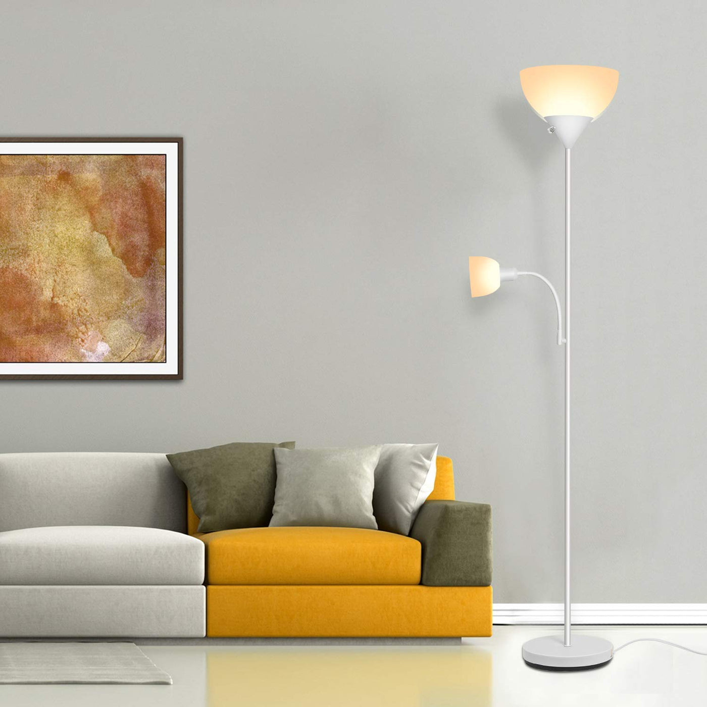 SUNLLIPE LED Torchiere Floor Lamp 70.5 Inches Energy Saving