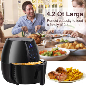 Posame Air Fryer 4.2 Quarts 1500W Hot Air Fryers & Oilless Cooker with LCD Touch Screen