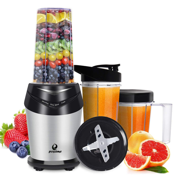 Posame Mini Professional High Speed Blender for Shakes and Smoothies 800W