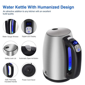Posame Electric Kettle Electric Tea Kettle 1500W with LED Indicator Light (Clearance Sale)