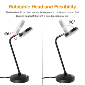 SUNLLIPE Desk Lamp 7W Dimmable LED Table Lamp
