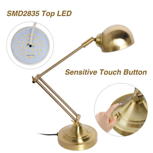 SUNLLIPE Swing Arm Desk Lamp Touch Control
