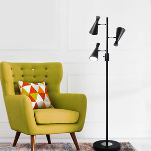 SUNLLIPE 3 Lights LED Tree Floor Lamp 4 Modes Rotary Switch