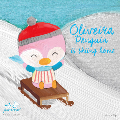Oliveira  Penguin is skiing home~~