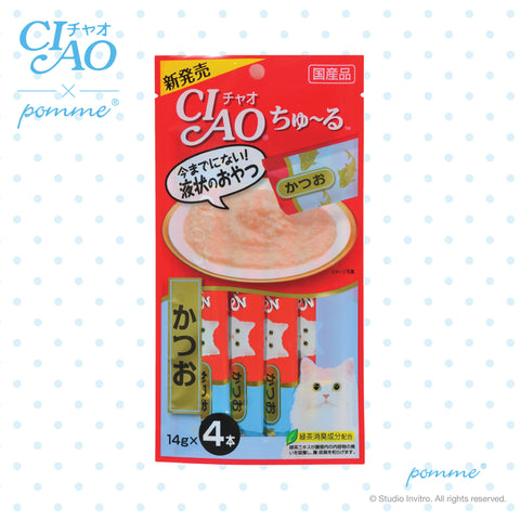 Ciao Treat in Soup for Cat - Bonito Flavor 14g x 4