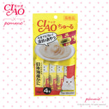 Ciao Treat in Soup for Cat - Chicken & Crab Flavor  14g x 4
